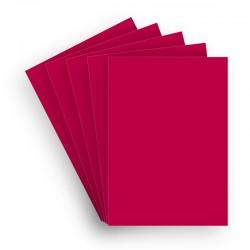 Papir 5 ark A4+ Bestrøget Rød