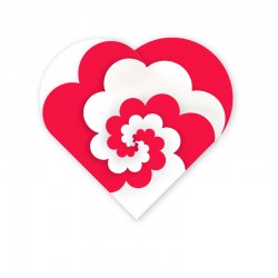 Spiral hjerte med bølger