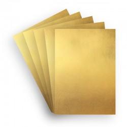 Papir 5 ark A4+ Guld Papir